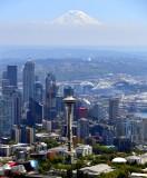 Space Needle, Mount Rainier, Downtown Seattle, Great Wheel, Pacific Science Center, Washington 108