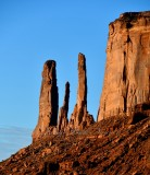 Three Sisters, Mitchell Mesa, Monument Valley, Navajo Tribal Park, Navajo Nation, Arizona 374