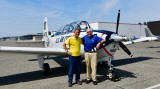 Charlie and Me with T-34A Mentor, Modern Aviation Seattle, Boeing Field, Washington 149