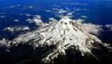 Mt Rainier National Park from 39,000 feet,  Washington 289