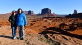 Garrett and Llesa at John Ford's viewpoint againt Monument Valley, Navajo Tribal Park, Navajo Nation, Arizona 439