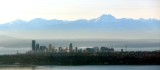 Downtown Seattle, Space Needle, Smith Tower, Puget Sound, The Brothers, Olympic Mountains, Washington 148