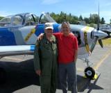 Bill Anders and I at Friday Harbor Airport, Washington 1630a
