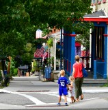 Waiting for mom to cross, Cold Spring, New York 060