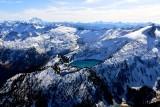 Snowking Mountain, Cyclone Lake, Mt Buckindy, Glacier Peak, Sloan Peak, Cascade Mountains, Washington 219