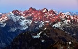 Overcoat Peak, Iceberg Lake, Chimney Rock, Lemah Mountain, Chikamin Peak, Huckleberry Mtn, Bears Breast Mtn,Mt Hinman