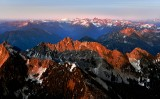 Kaleetan Peak, Chair Peak, Brant Peak, The Tooth, Mt Snoqualmie, Mt Thomson, Chikamin Peak, Lemah Mt, Chimney Rock, Overcoat