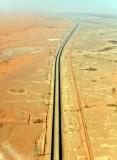 Endless Highway across Saudi Desert, Riyadh Region, Saudi Arabia 077
