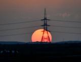 Sunset across Saudi Desert from Riyadh, Saudi Arabia 543