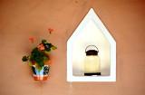 Flower Pot and Lamp in Adobe House, Riyadh Saudi Arabia 182