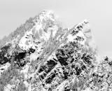 Mt Phelps in fresh snow, Cascade Mountains, Washington 156bw