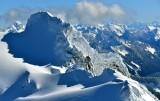 Whitehorse Mountain, So-Bahli-Alhi Glacier, Sloan Peak, Wilmans Peak, Mount Stuart, Cascade Mountains, Washington 390