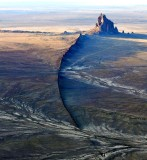 Ship Rock, known as Tse Bitai, or the winged rock in Navajo, New Mexico 783