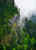 Fog Shrouded Mountain by Lake Isabel, Gold Bar, Washington 310