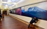 Major Peaks in Cascade Mountains Range at VA Hospital in Seattle Beacon Hill, Washington 094