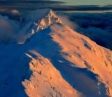 Sunset on Gunnsy Peak, Jumpoff Ridge,  Gunn Peak, Merchant Peak,  Cascade Mountains, Index, Washington 576