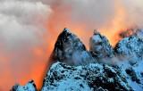 Fiery Sunset on Garfield Mountain, Cascade Mountains, Washington 710
