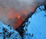 Fiery Sunset on Garfield Mountain, Cascade Mountains, Washington 813