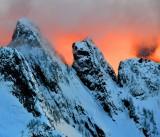 Fiery Sunset on Garfield Mountain, Cascade Mountains, Washington 725