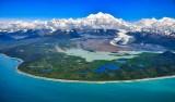 Mount Fairweather and glacier, Fairweather Range, Mt Salisbury, Lituya Mountain,  Glacier Bay National Monument, Alaska 719a