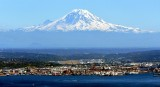 Amazing Site to Fly Home into Boeing Field and Mount Rainier, Harbor Island, Seattle, Washington 1263