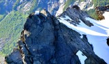 Three Fingers Lookout and Ladder with Queest-Alb Glacier on Three Fingers Mountain, Cascade Mountains, Washington 1226