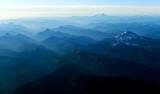 Evening Shadow on Cascade Mountains, Glacier Peak, Twin Sisters, Mt Baker, Mt Shuksan, Washington 538