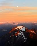 Whitehorse Mountain and The Moon at Sunset, Washington 253