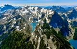 Mount Hinman, Hinman Glacier, Hinman Lake, Lake Lepul,  Mount Daniel, Lynch Glacier, Lake Ilswoot, Bears Breast Mountain,