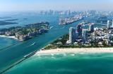 Downtown Miami, Miami South Beach, South Pointe Beach, Fisher Island, Dodge Island, Miami South Channel, Florida 394