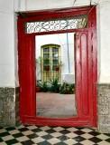 Red Door to Inner Court, Yellow Window, Marbella, Malaga, Spain 159