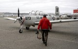 My Normal Walk and Camera and Flightbag to fly Beech Mentor T-34A,  Modern Aviation, Seattle, Washington