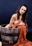 Wine Barrel Washtub