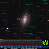 NGC 3521 Annotated