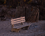 Bench in twilight