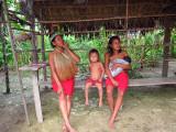 Three generations of Yagua women