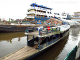 River commerce at the dock in Iquitos