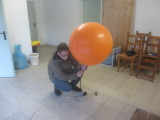 Vier Ballons werden