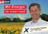 Ihre Vorzugstimme am 1. Oktober für Martin Preineder, den Vertreter des ländlichen Raumes !