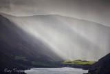 A heavy shower of rain just south of Tal y Llyn