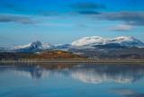 The Moelwyn range & Cnicht from Ynys