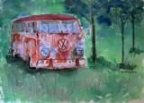 Rambling On watercolor 9x12