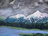 Alaskan Landscape acrylic on canvas 24x30