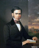Captain W. Davis (Reading a Book of Music), 1854