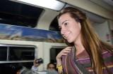 En el tren de regreso de Machupichu