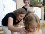 October 2012: Kristina's first haircut