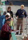 Gangway crew at Aasiaat Greenland