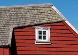 House roof & broken window