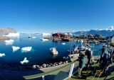 Uummannaq harbour from the hotel