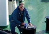 At work on the aft deck